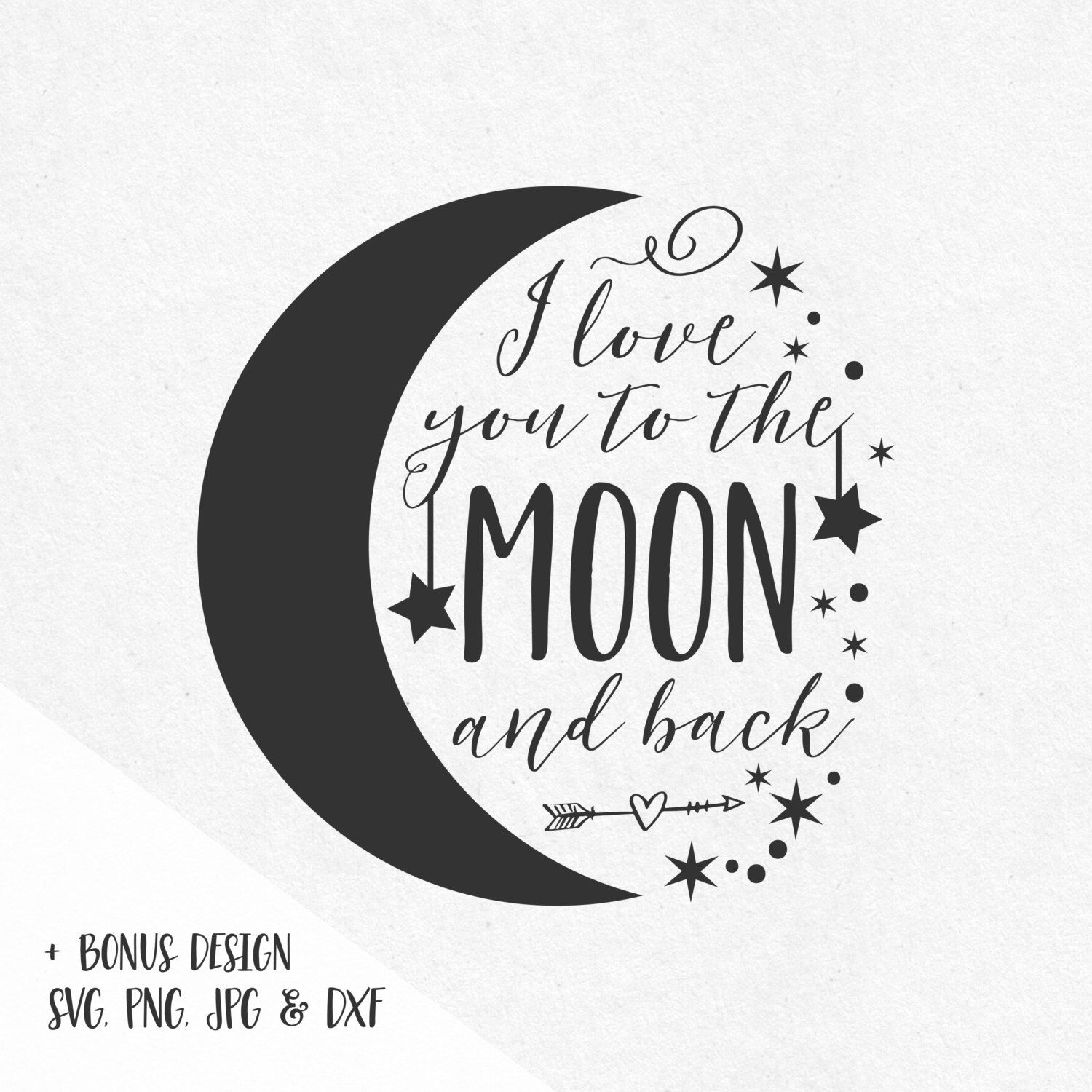 Quote I Love You To The Moon And Back I Love You To The Moon And Back Art Print  Moon Printing And Tattoo