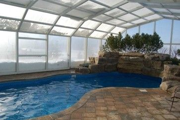 Inside Pool Enclosure Winter Modern Swimming Pools And Spas Toronto Covers In Pl Indoor Swimming Pool Design Swimming Pool Designs Indoor Pool Design