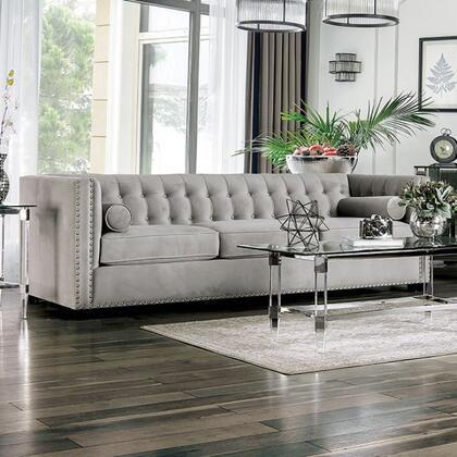 Furniture Of America Sm9115sf 1 274 83 Light Gray Sofas Grey Sofa Living Room Sofa And Loveseat Set
