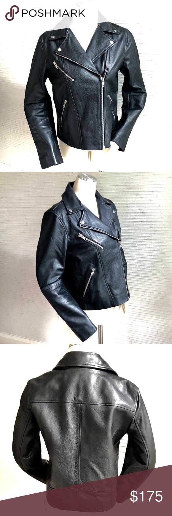 H M Leather Moto Jacket Current Season Size 6 Leather Moto Jacket Jackets Clothes Design [ 1740 x 580 Pixel ]