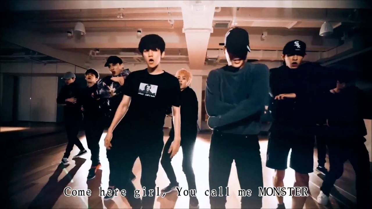 exo monster dance practice ver korean ver 練習室 繁中字 k
