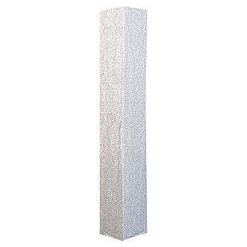 The Silver Shimmering Square Column features a shimming silver ...