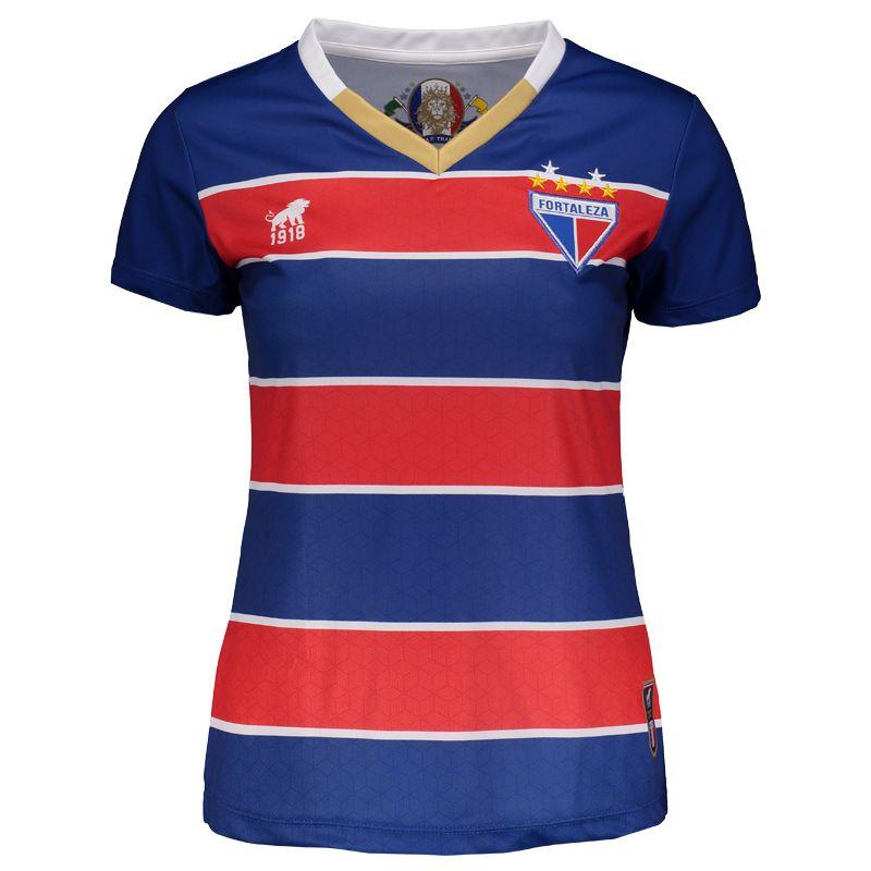 Camisa Leão 1918 Fortaleza I 2017 Feminina Torcedor Somente na FutFanatics  você compra agora Camisa Leão 776a9ed2cc3df