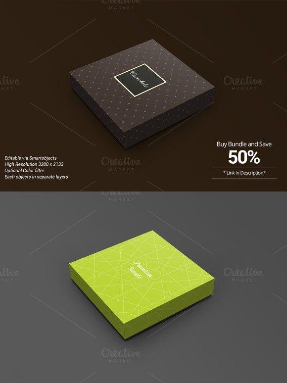 Download Package Box Mockup Chocolate Version Box Mockup Mockup Photoshop Textures