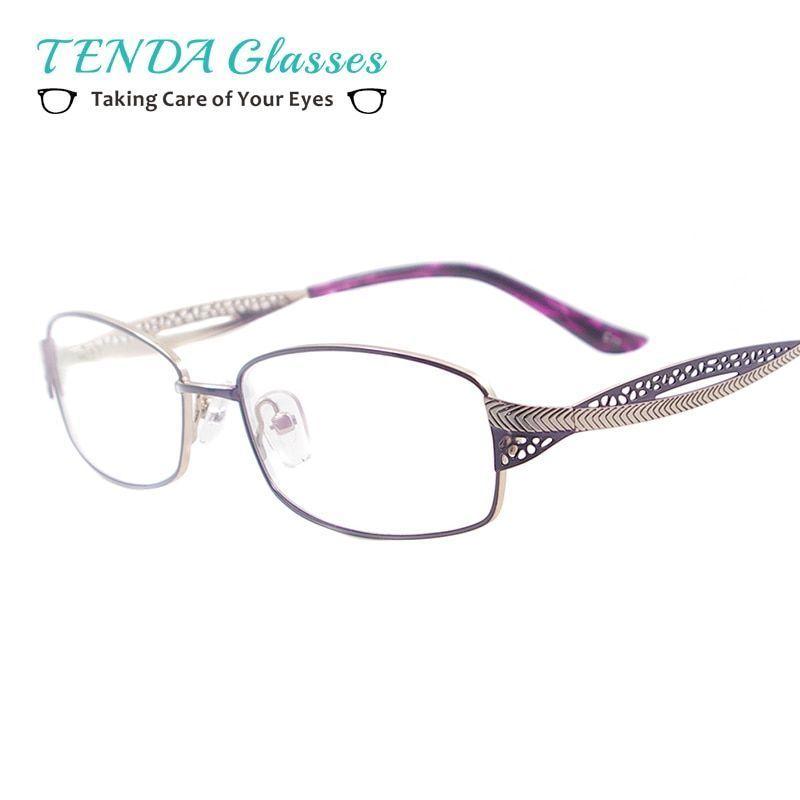 d5745f943e0 Medium metal women rectangular spectacles full rim colourful eyewear frame  for multifocal myopia lenses  stainless  steel  women  eyewear  accessories    ...