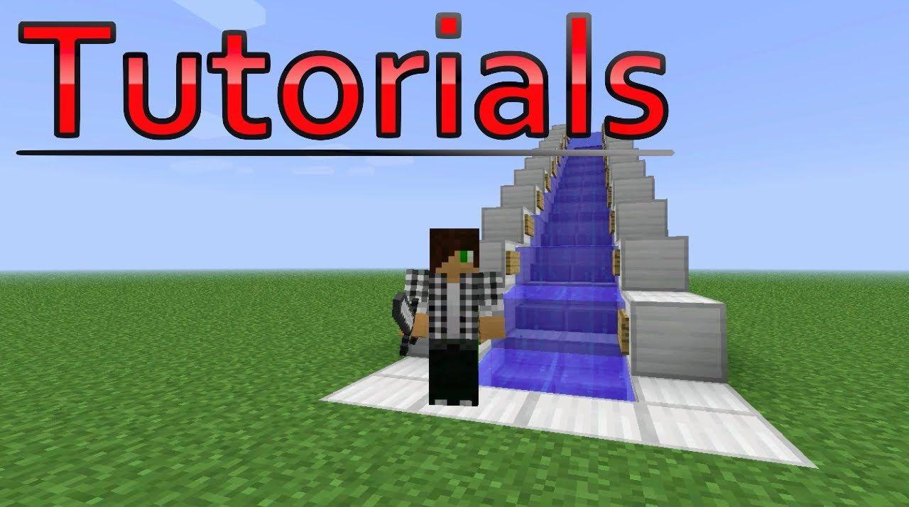 minecraft tutorial water escalator minecraft pinterest