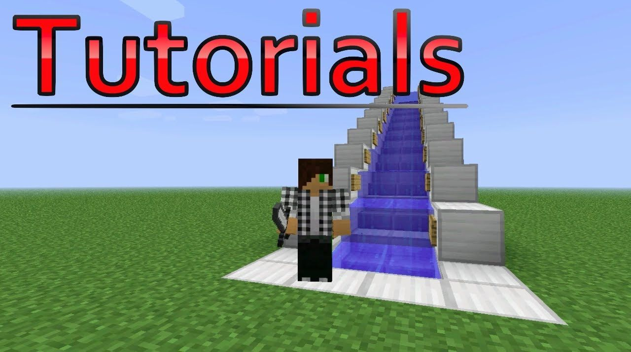 Minecraft tutorial water escalator minecraft info lol minecraft tutorial water escalator baditri Image collections