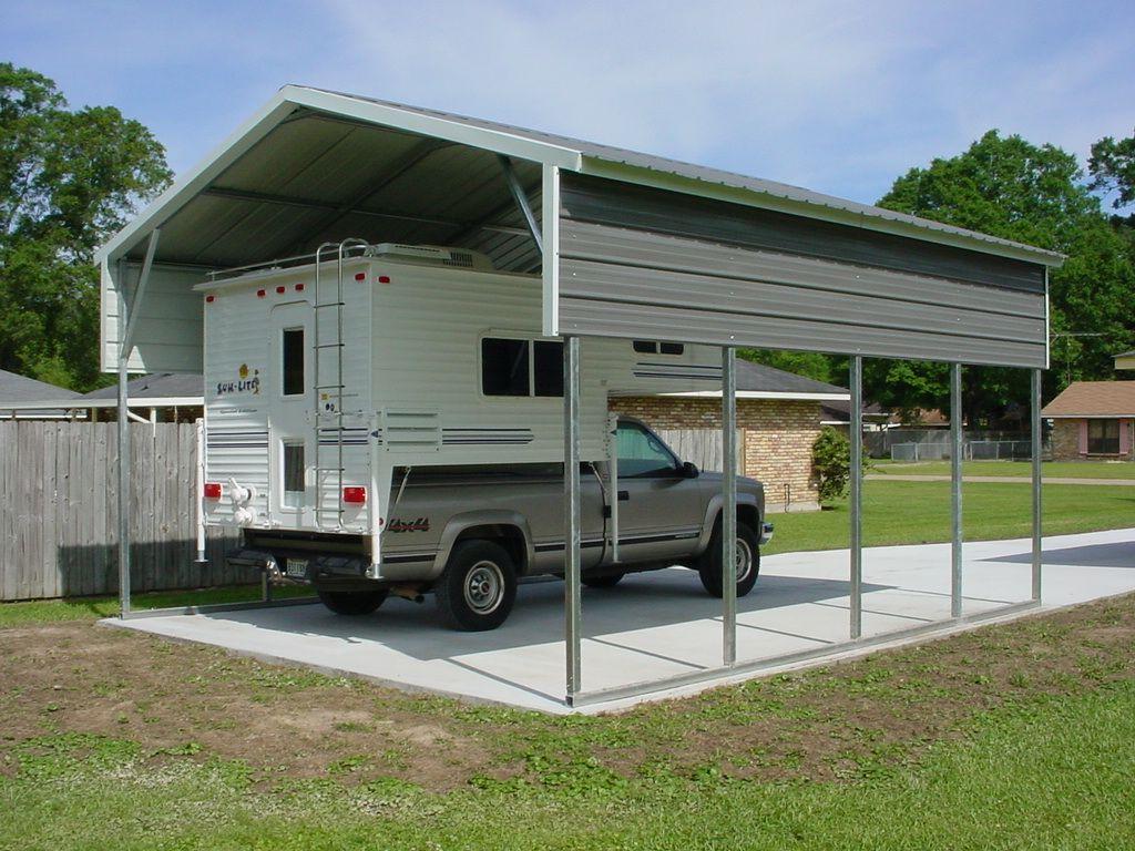 RV09 12x30x12 Steel RV Carport Midwest Steel Carports