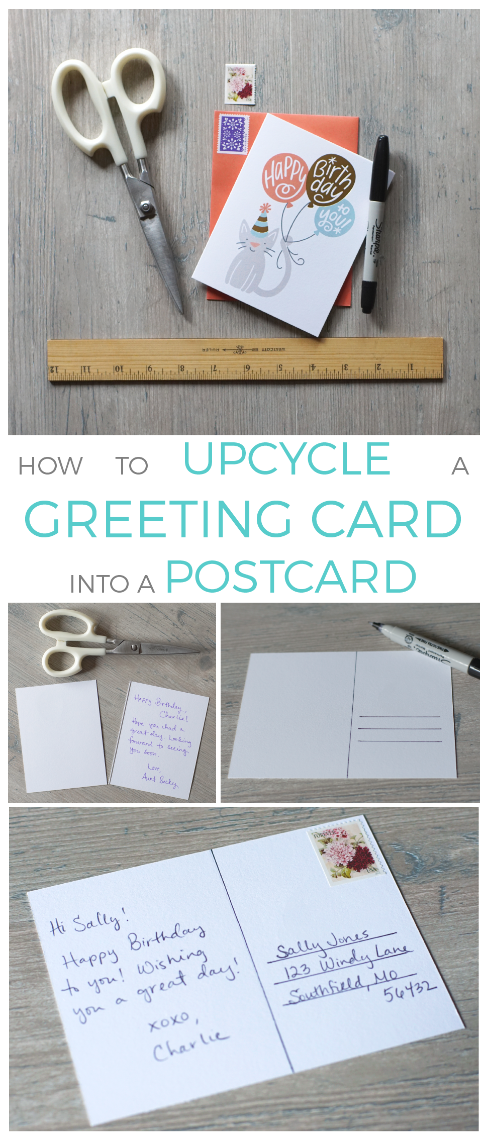 Reuse your old greeting cards by turning them into postcards in reuse your old greeting cards by turning them into postcards in just a few short steps kristyandbryce Images