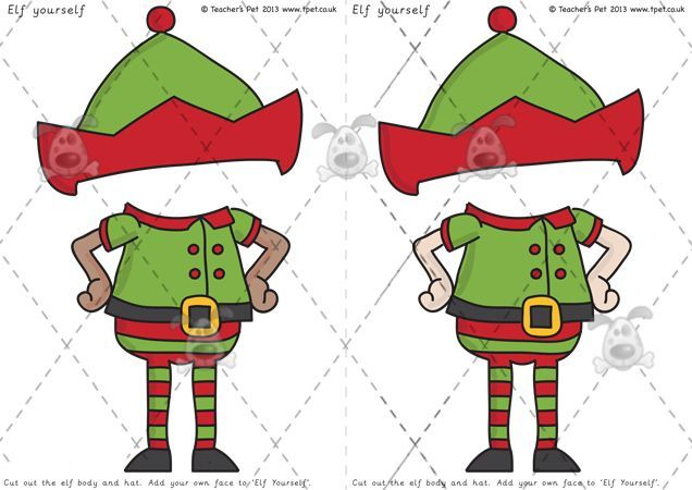 It is a photo of Massif Elf Yourself Printable