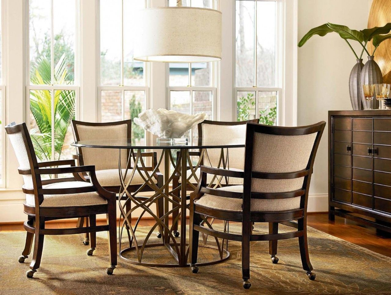 Glass dining room sets - Images About Dining Chairs On Casters On Pinterest Antique Living Rooms Wheels And Chairs