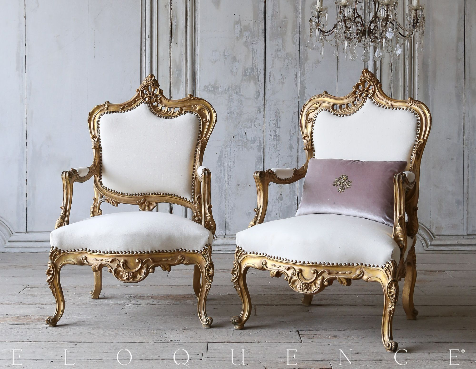 1940s French Style Gilt Armchairs Sillas Pinterest