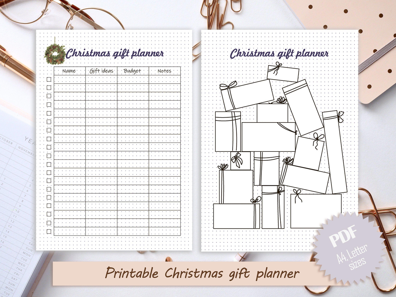 Printable Christmas T Planner Bullet Journal Christmas