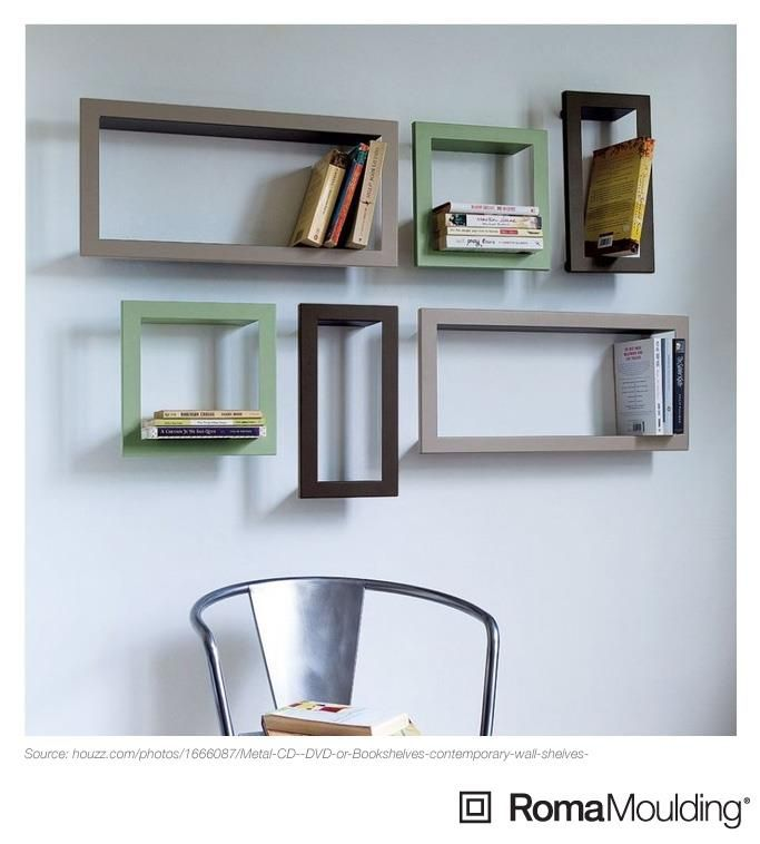 Custom frames as bookshelves!