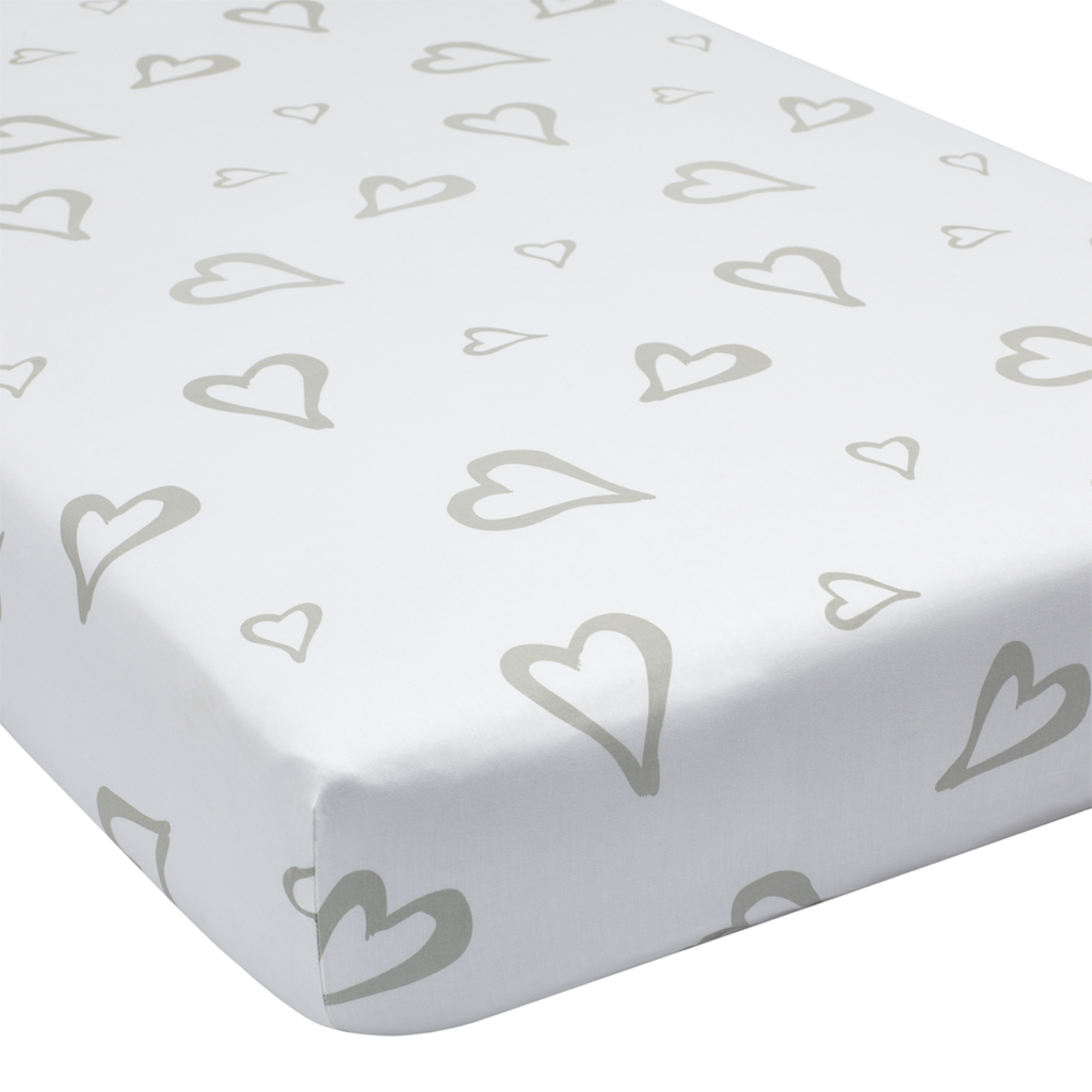 abstract affection organic cotton crib sheet  project nursery  - abstract affection organic cotton crib sheet