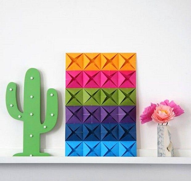 Contoh Gambar Hiasan Dinding Kamar Dari Kertas Origami Seni Origami Origami Tutorial Origami