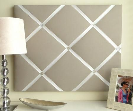 FabricPictureBoardWithRibbon But Simple Solidcolor French Delectable Padded Memo Board