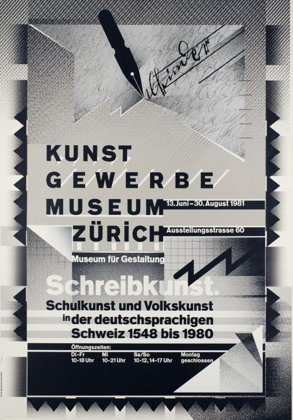 Schreibkunst 1548 To 1980 Kunst Gewerbe Museum Zurich Vintage Posters Galerie 123 The Place To Find Vintage Wolfgang Weingart Graphic Poster Typography