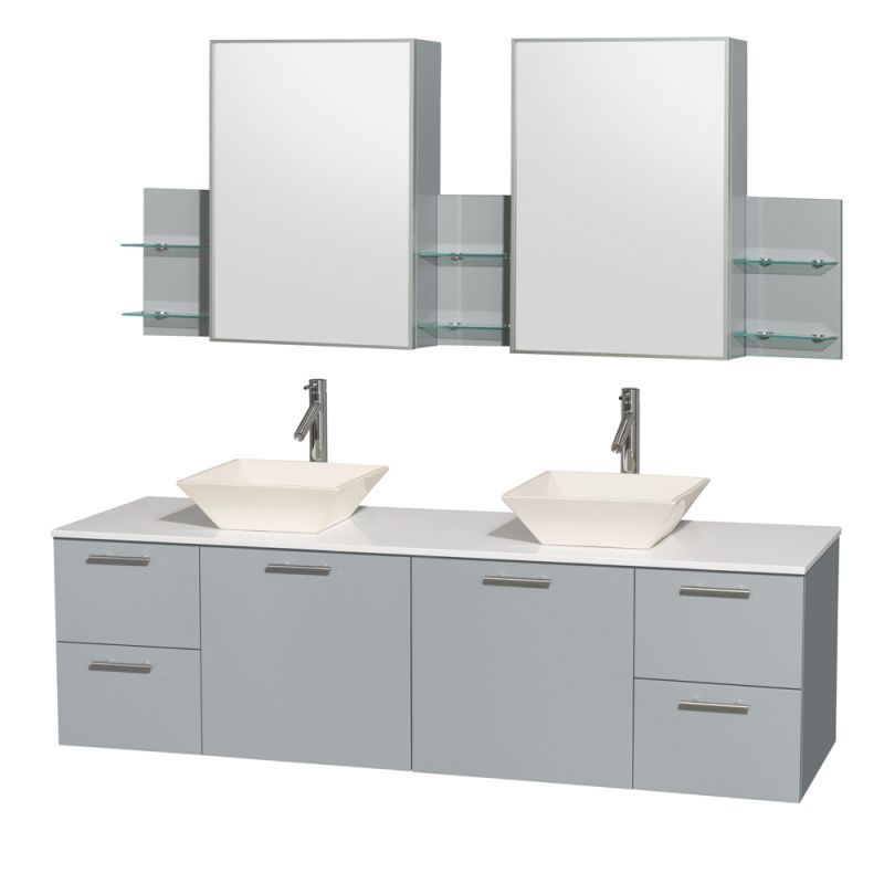Wyndham Collection Wcr410072ddgwsmed Amare 72 Double Vanity Cabinet