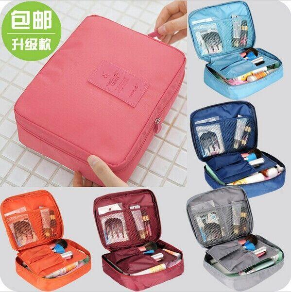 New 2016 Nylon Multifunction Make up Organizer bag Women Cosmetic bags Ourdoor Travel Bag Handbag Bolsas Free shipping