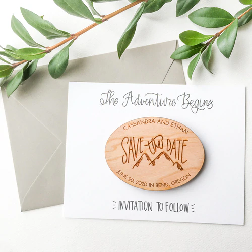 Save the Date Mountain Range (Set of 10) Save