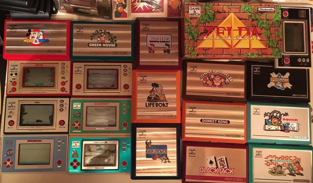 1980s Game & Watch hand-helds. ❤️