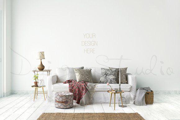 Interior PSD Living Room Photo By HisariDS Mockup Design On Creativemarket