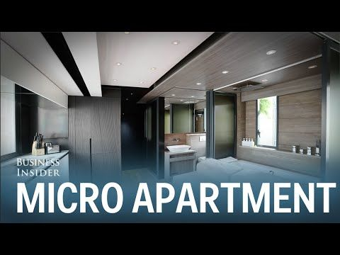 Business insider this 309 square foot micro apartment has a home theater