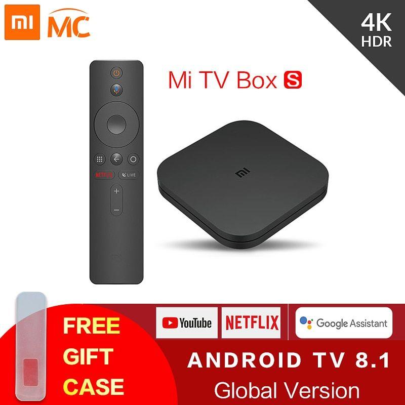 Original Global Xiaomi Mi TV Box S 4K HDR Android TV 8.1