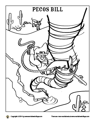 Pecos Bill Coloring Page | tall tales | Pinterest | Pecos bill ...
