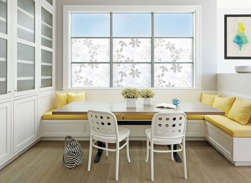 Delightful Dining Room Design Ideas   Use Built In Banquette Seating To Save Space //  Bright Yellow Upholstery And Cushions Used To Soften The Banquette Brighten  This ...