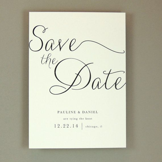 Elegant Wedding Save the Date - Modern, Elegant, Classic, and Simple