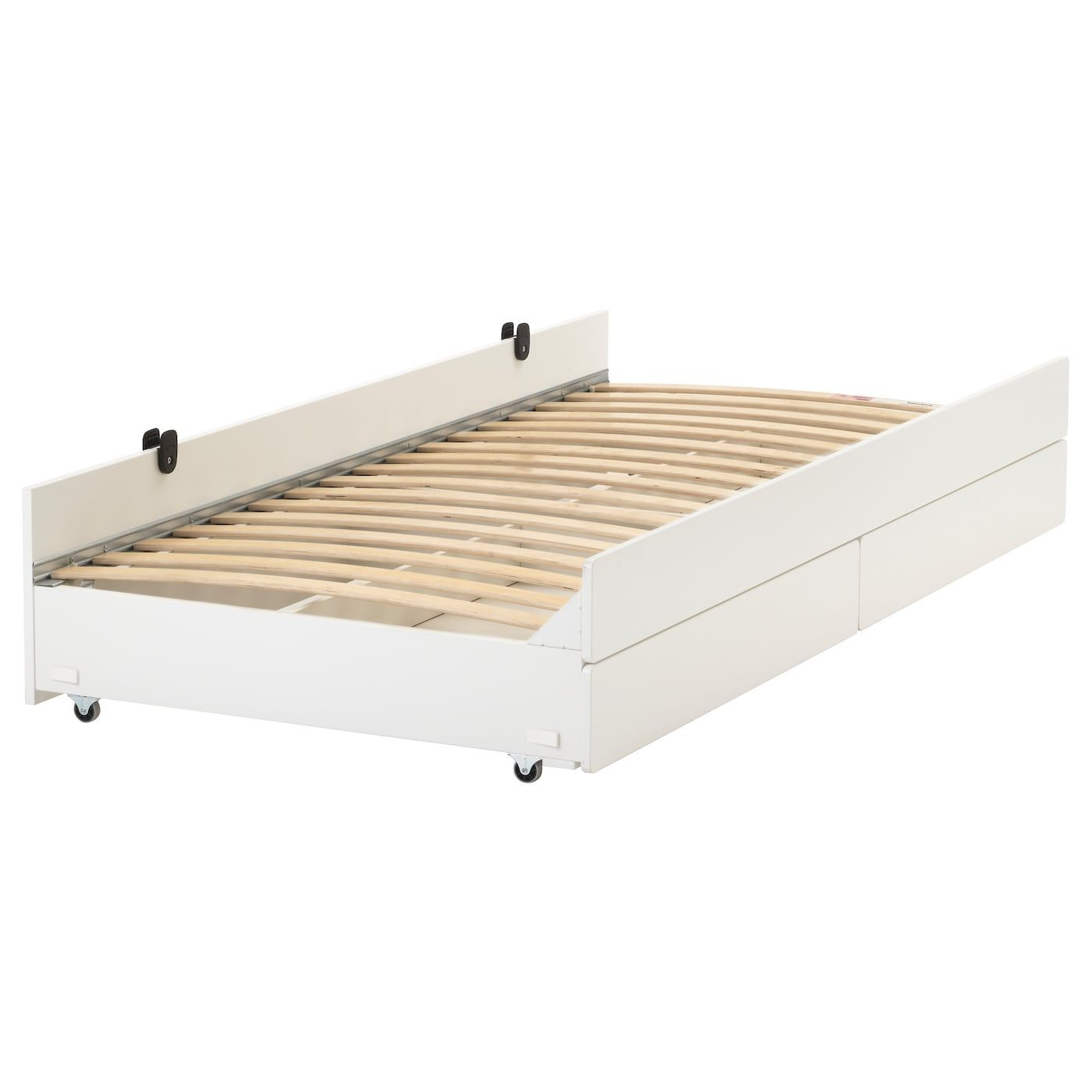 Best Kura Reversible Bed White Pine Twin Pull Out Bed 400 x 300