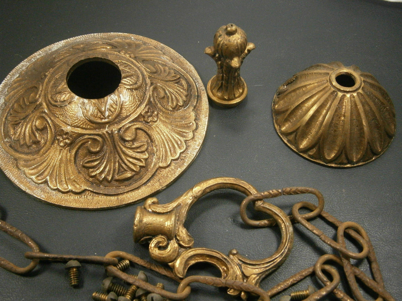 Vintage Chandelier Parts Solid Bronze Chandelier Parts Spanish