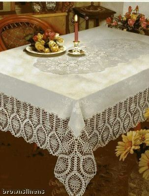 Robot Check Vinyl Tablecloth Table Cloth Lace Tablecloth