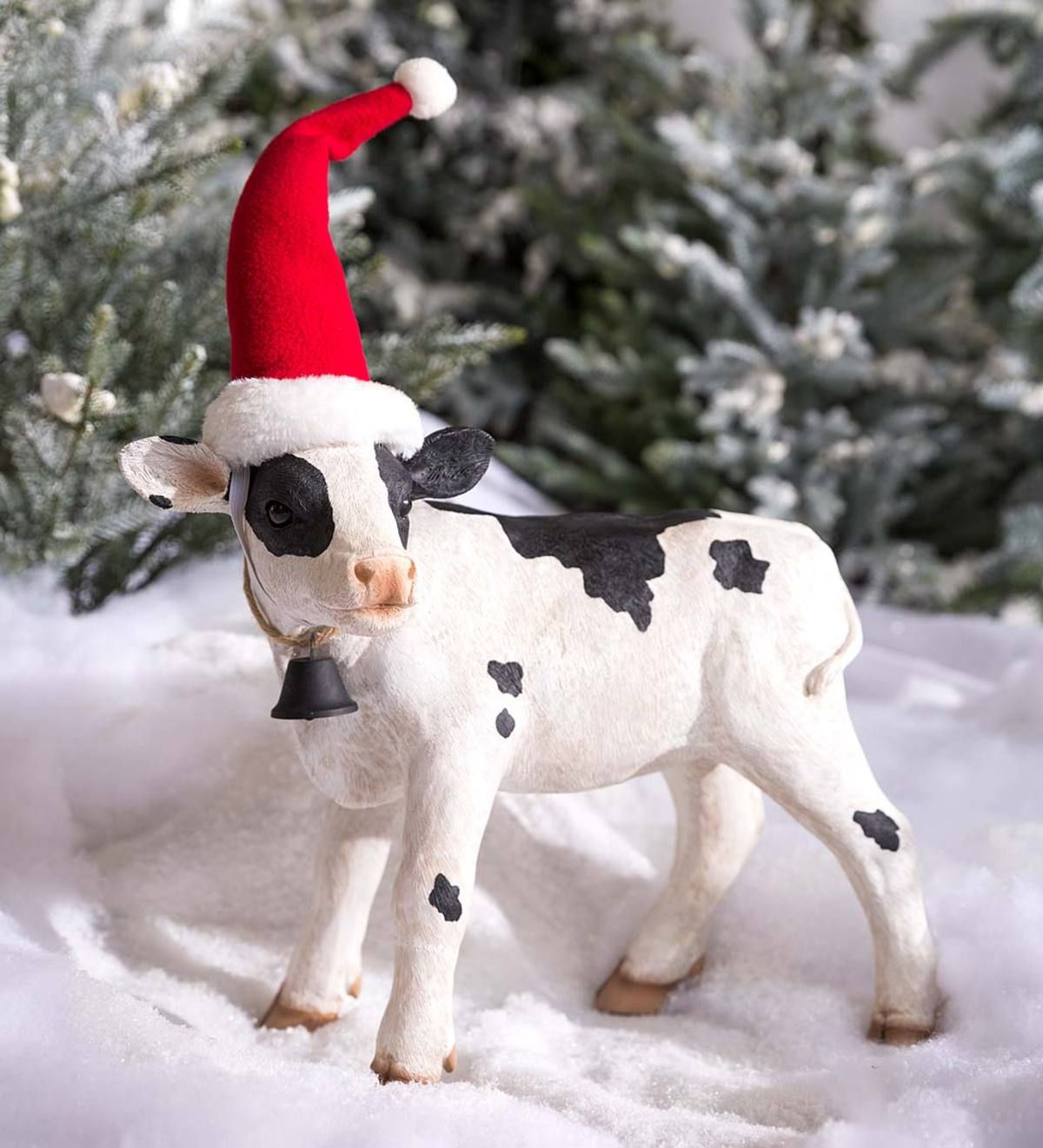 Mini Holiday Cow Garden Accent Eligible For Promotions Collections Outdoor Holiday Decor Decorating With Christmas Lights Christmas Reindeer Decorations