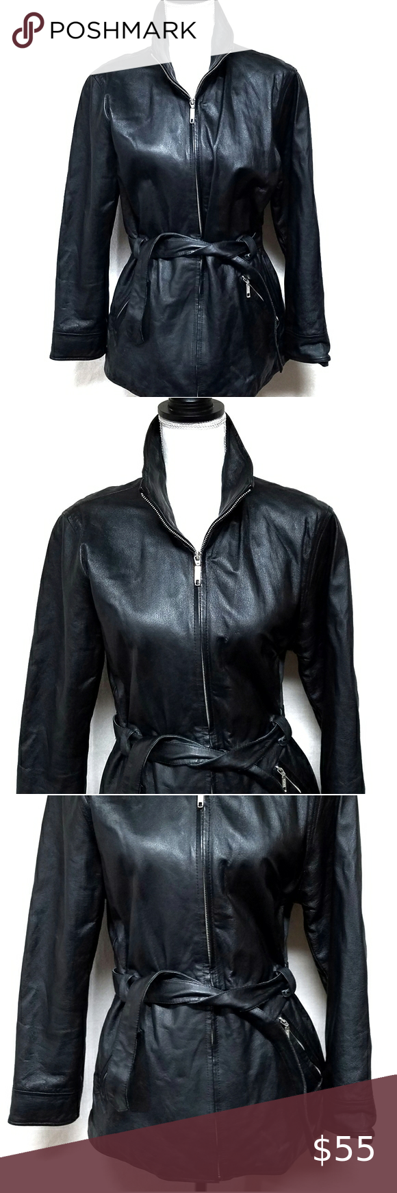 80s Vintage Comint Black Leather Tie Waist Jacket Wool Blend Jacket Lace Bodycon Dress Printed Sleeveless Top [ 1740 x 580 Pixel ]