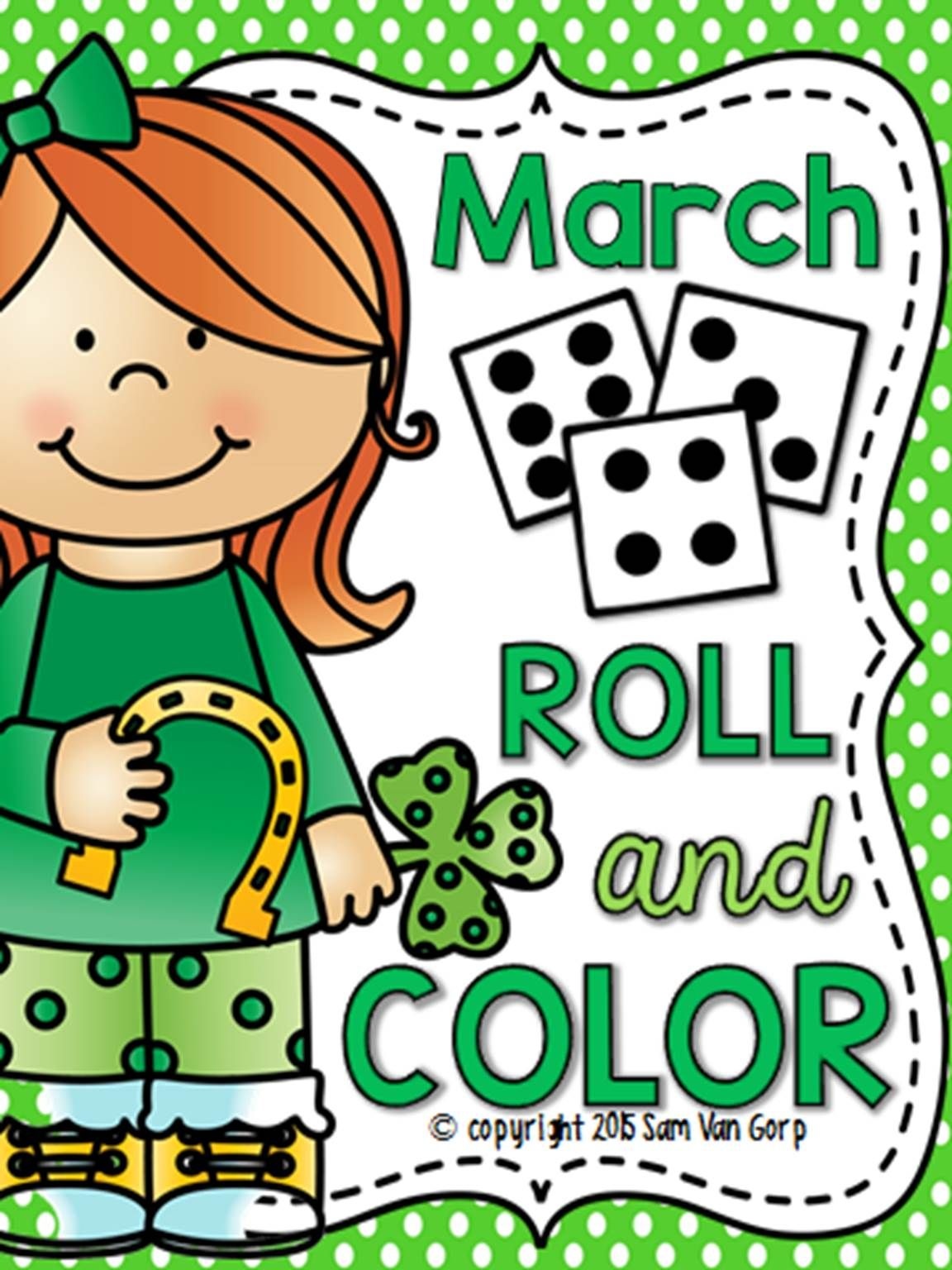 Roll and Color: March | March, Students and Math