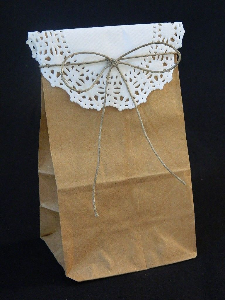 25 Small Mini Brown Paper Bags Kraft Craft Grocery Lunch Wedding Party Favor Diy
