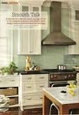 white cabinets black granite glass backsplash - Google Search