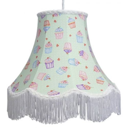 Floral print lamp shade cupcake imperial lighting ltd bespoke shade