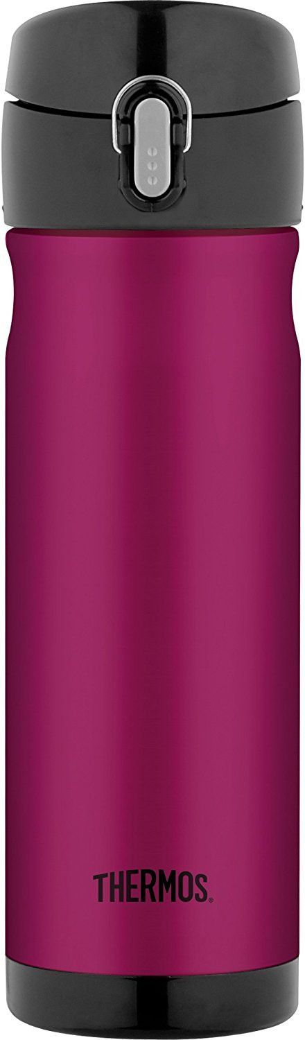 Thermos 16 Ounce Stainless Steel Commuter Bottle Raspberry