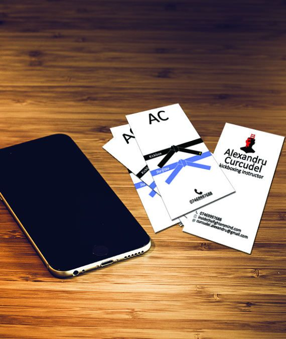 Martial Arts Custom Made Easy To Edit Business Cards