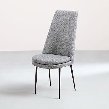 upholstered dining chairs canada drafting chair height finley high back twill granite gun metal westelm office cuddle
