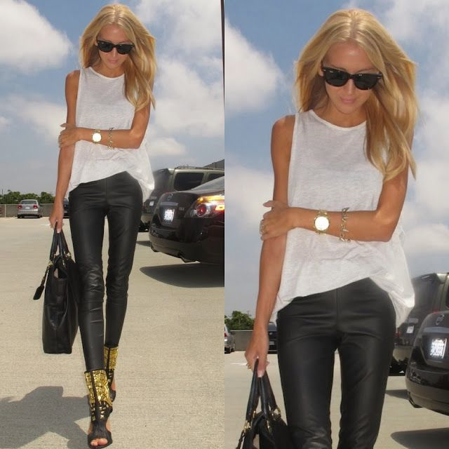 How to Chic: LEATHER LEGGING