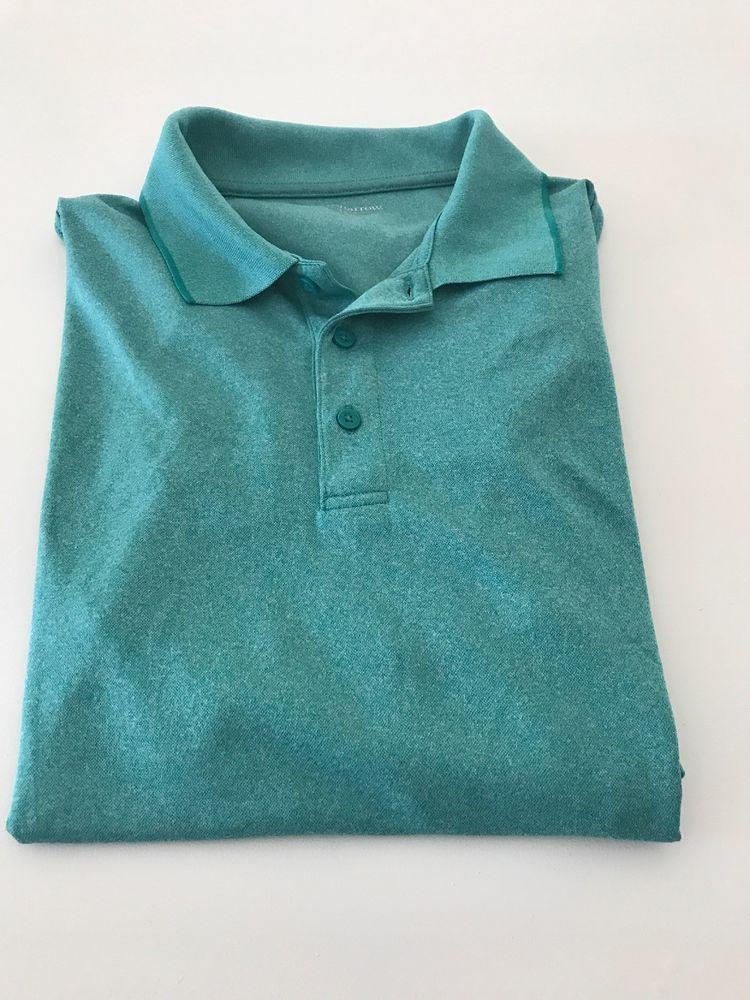 Croft /& Barrow Mens Polo Shirt Short Sleeve Striped Green Medium