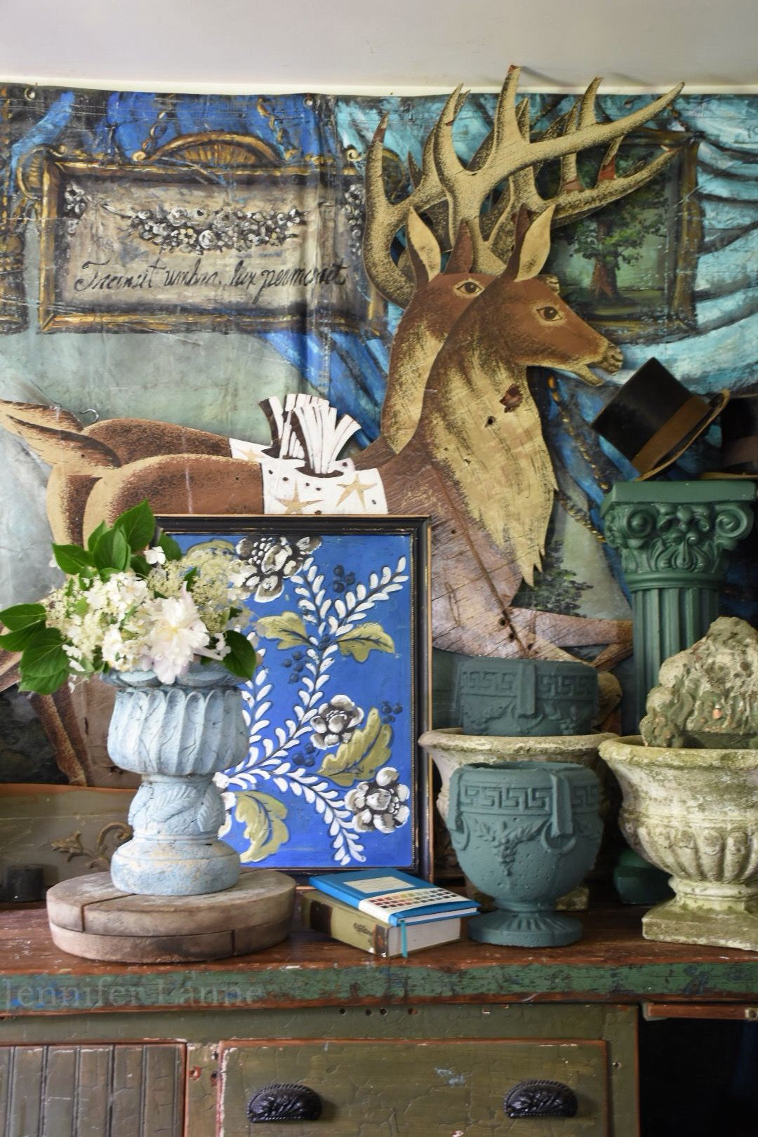 Jennifer lanne studio boho painting artwork painting