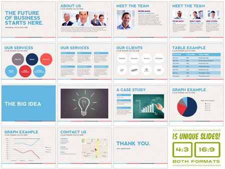 Design deals for the week Presentation design, Corporate design - professional power point template