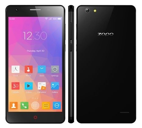 ZOPO ZP720+ Flash E uses 5.3 Inch HD screen, with MT6732 quad core CPU, has 2GB RAM, 16GB ROM, 5MP front + 13.2MP back dual camera, installed Android 4.4 OS.