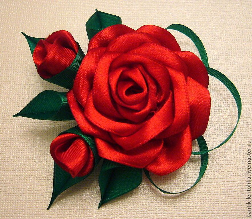 Заказать цветы из лент, невесты гортензии большой